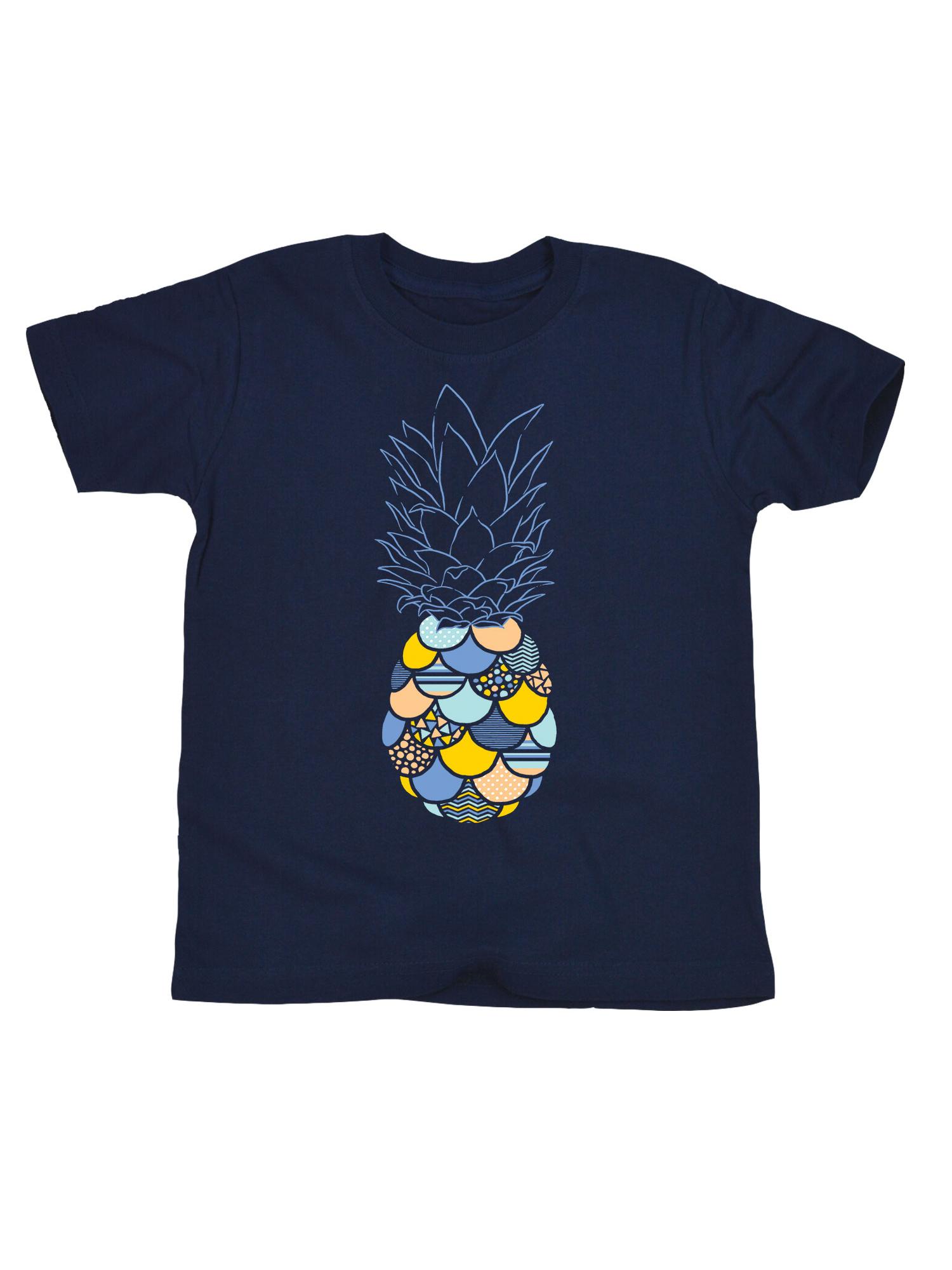 Patterned Pineappe Stripes Polka Dot Chevron Ocean Tropical Fruit Toddler Shirt