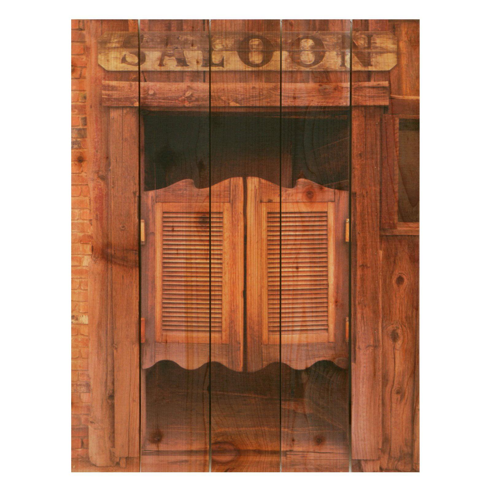 Gizaun Art Saloon Door Indoor/Outdoor Full Color Cedar Wall Art