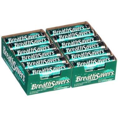 Breath Savers Wintergreen Mints 12 piece pks. 24 ct. by Breath Savers