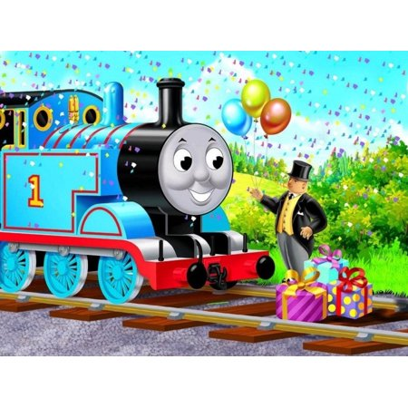 Thomas the Train 1/2 Sheet Cake Cupcake Edible Sheet Custom Image Birthday Wedding Baby Shower Party Toppers Personalized Decorations Favors for $<!---->