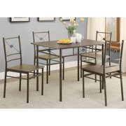 A Line Furniture Glanna Comtemporary X Motifs Dark Bronze 5-piece Dining set