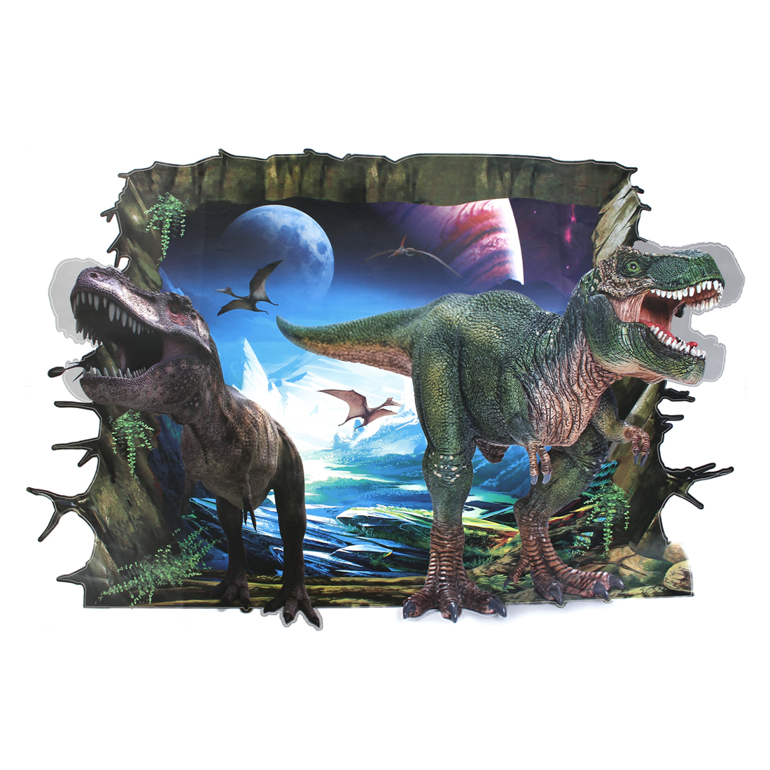 Unique Bargains Home Nursery Background Wall Decor 3D Effect Dinosaur Pattern Wall Sticker Decal
