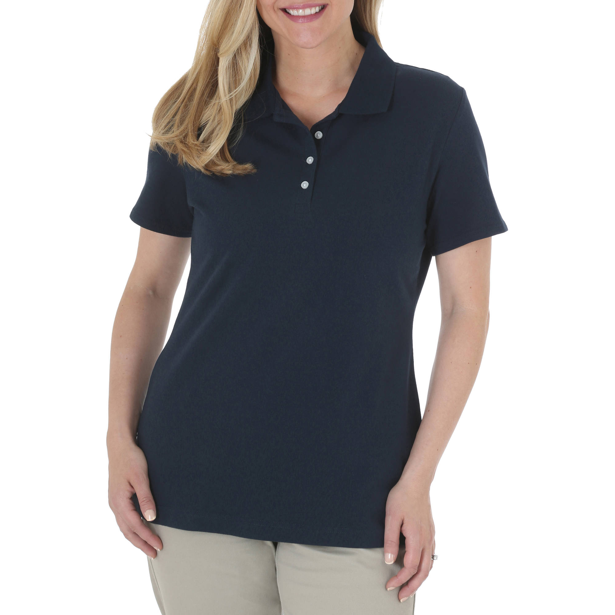 Riders by Lee Women's Knit Polo Shirt - Walmart.com