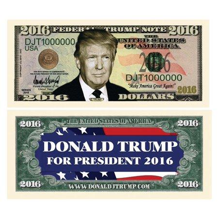 Set of 5 - Donald Trump 2016 Presidential Dollar BillMade in USA By American Art Classics