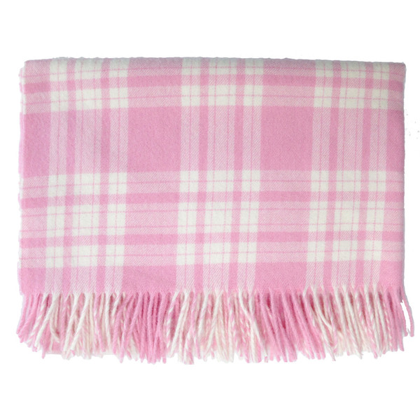 English Stroller Blanket ~ Pink/White Plaid [Baby Product]