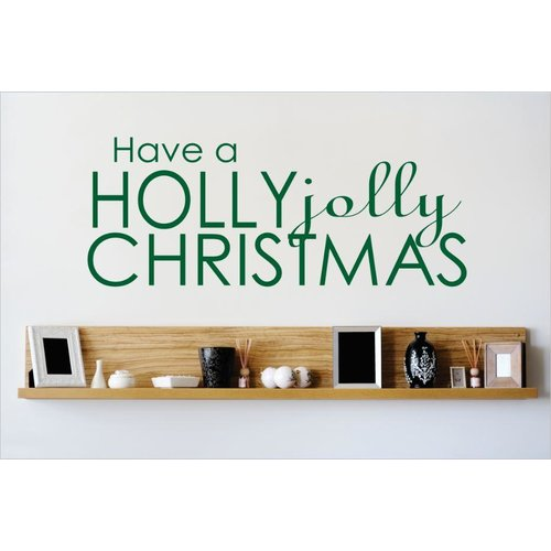 Design With Vinyl Have a Holly Jolly Christmas Wall Decal