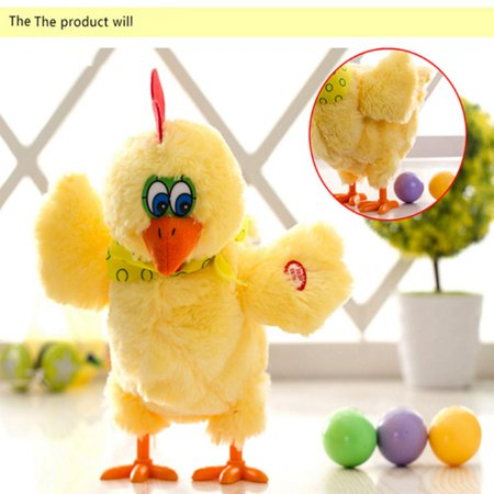 Funny Electric Musical Dancing Chicken Hens will Laying Egg of chickens Doll Raw Crazy Singing Dancing Electric Pet Plush