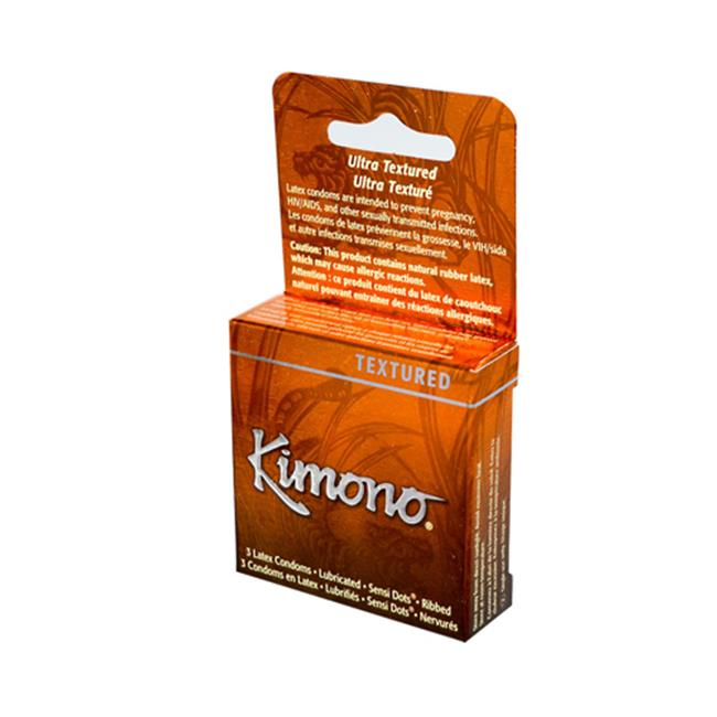 Mayer Laboratories 0906818 Kimono Textured Condom, 3 Condoms