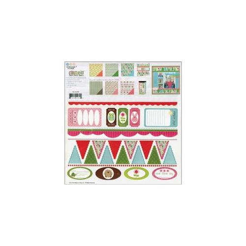 3 Bugs In A Rug ONE939 One Fine Day Caboodle Page Kit 12 inch x 12 inch