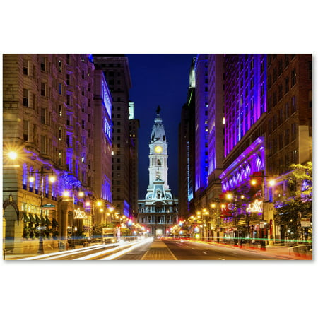 "Trademark Fine Art ""City Hall Philadelphia"" Canvas Art by Philippe Hugonnard"