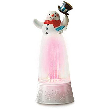 Musical Snowman Snowglobe (Hallmark Festive Fountain Top Hat Snowman Musical Snow Globe )