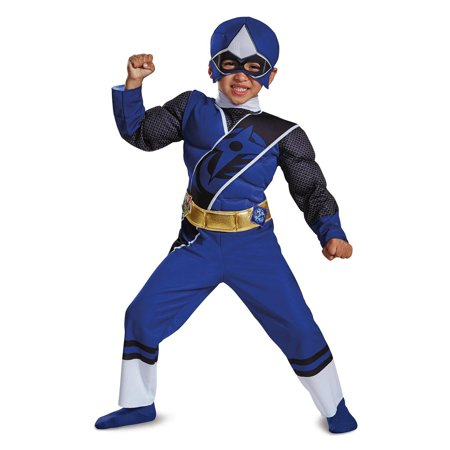 Blue Ranger Ninja Steel Child Muscle Costume - Toddler Green Power Ranger Costume