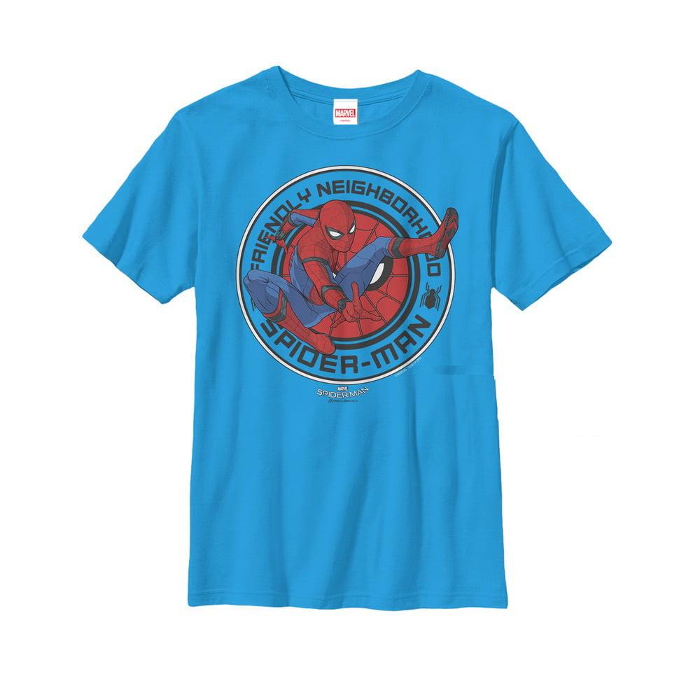 Marvel Boys' Spider-Man Homecoming Friendly Neighborhood Hero T-Shirt