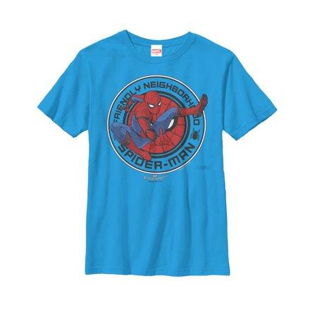 Marvel Boys' Spider-Man Homecoming Friendly Neighborhood Hero T-Shirt](Mens Homecoming)