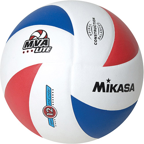 Mikasa MVA-LITE Youth Training Indoor/Outdoor Volleyball, Red/White/Blue