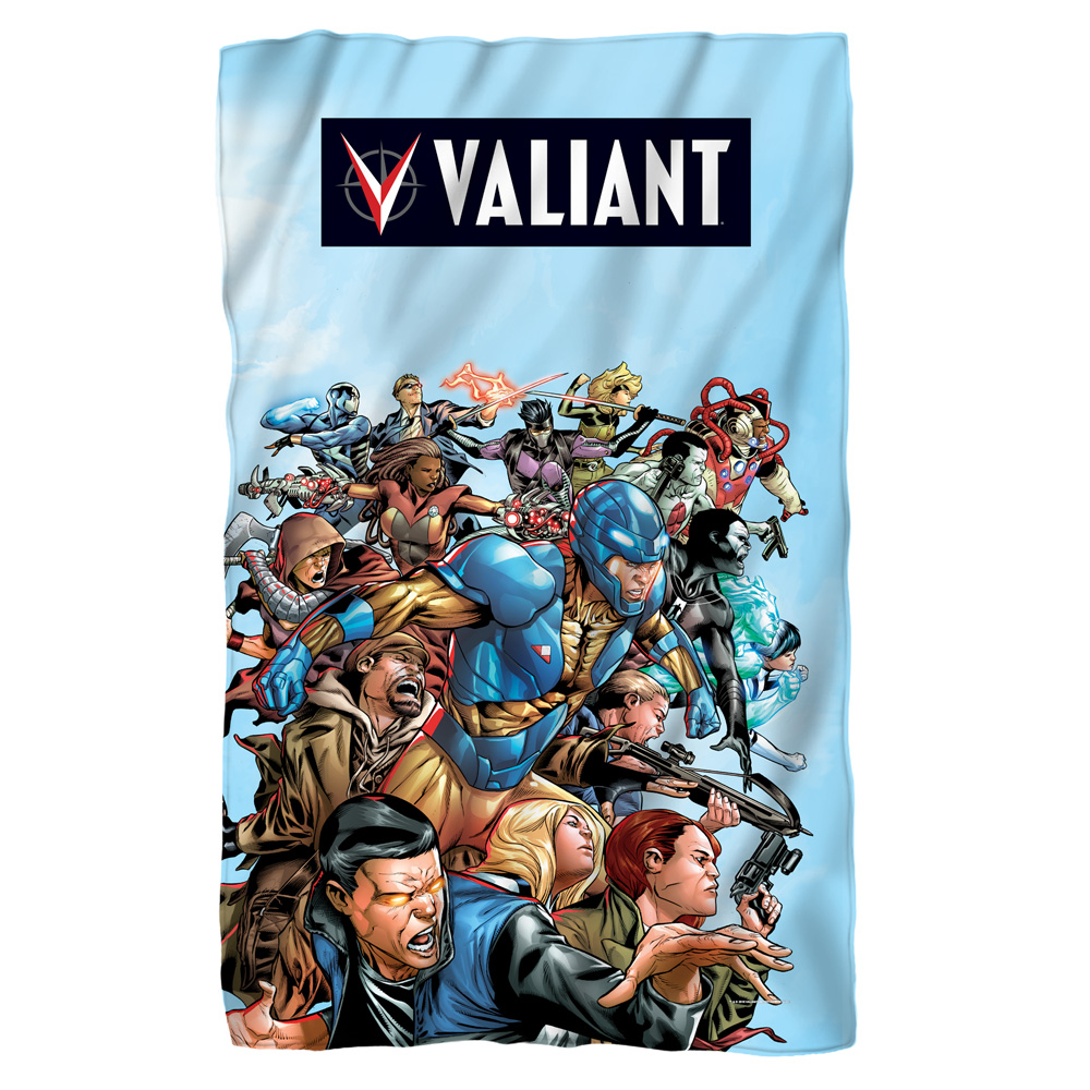 Valiant Group Attack Poly 36X60 Blanket White One Size