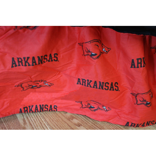 College Covers NCAA Arkansas Printed Dust Ruffle