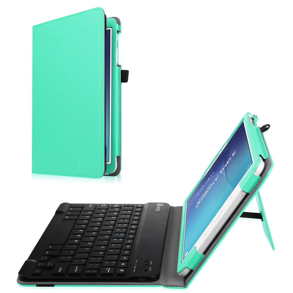 new concept 79cdd 81c3a Samsung Galaxy Tab E 9.6 Tablet Case - Fintie PU Leather Folio Cover with  Removable Bluetooth Keyboard