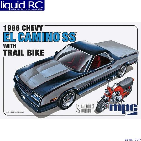 Chevy El Camino Tailgate - MPC 888 1/25 1986 Chevy El Camino SS w/Dirt Bike
