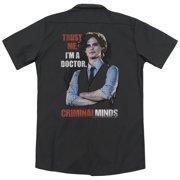 Criminal Minds Trust Me (Back Print) Mens Work Shirt