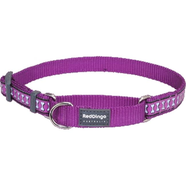 Red Dingo MC-RB-PU-LG Martingale Dog Collar Reflective Purple, Large