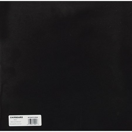 Grafix Medium Weight 12 Inch by 12 Inch Chipboard Sheets, Black (Beauty Chipboard)