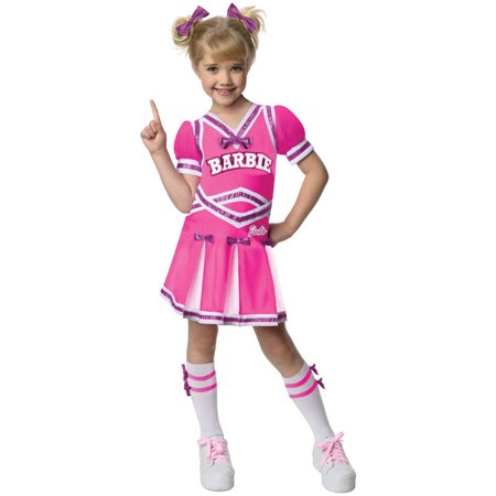 Barbie Cheerleader Toddler Halloween Costume, 3T-4T (Babies Costumes)