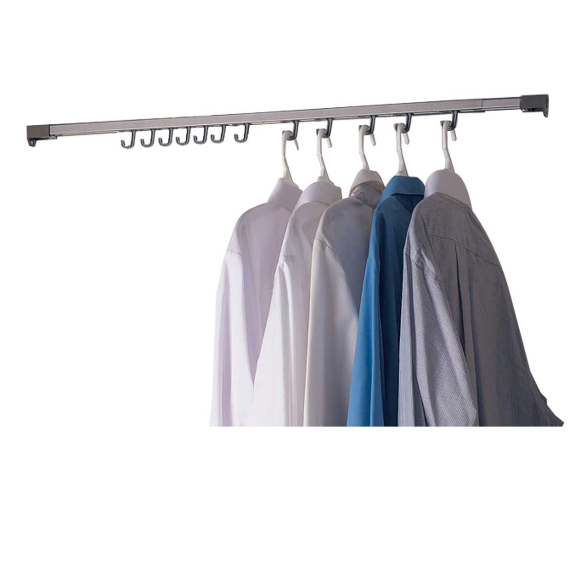RENOVATOR'S SUPPLY Closet Organizer Chrome (Grey) 48' to 80' Expandable