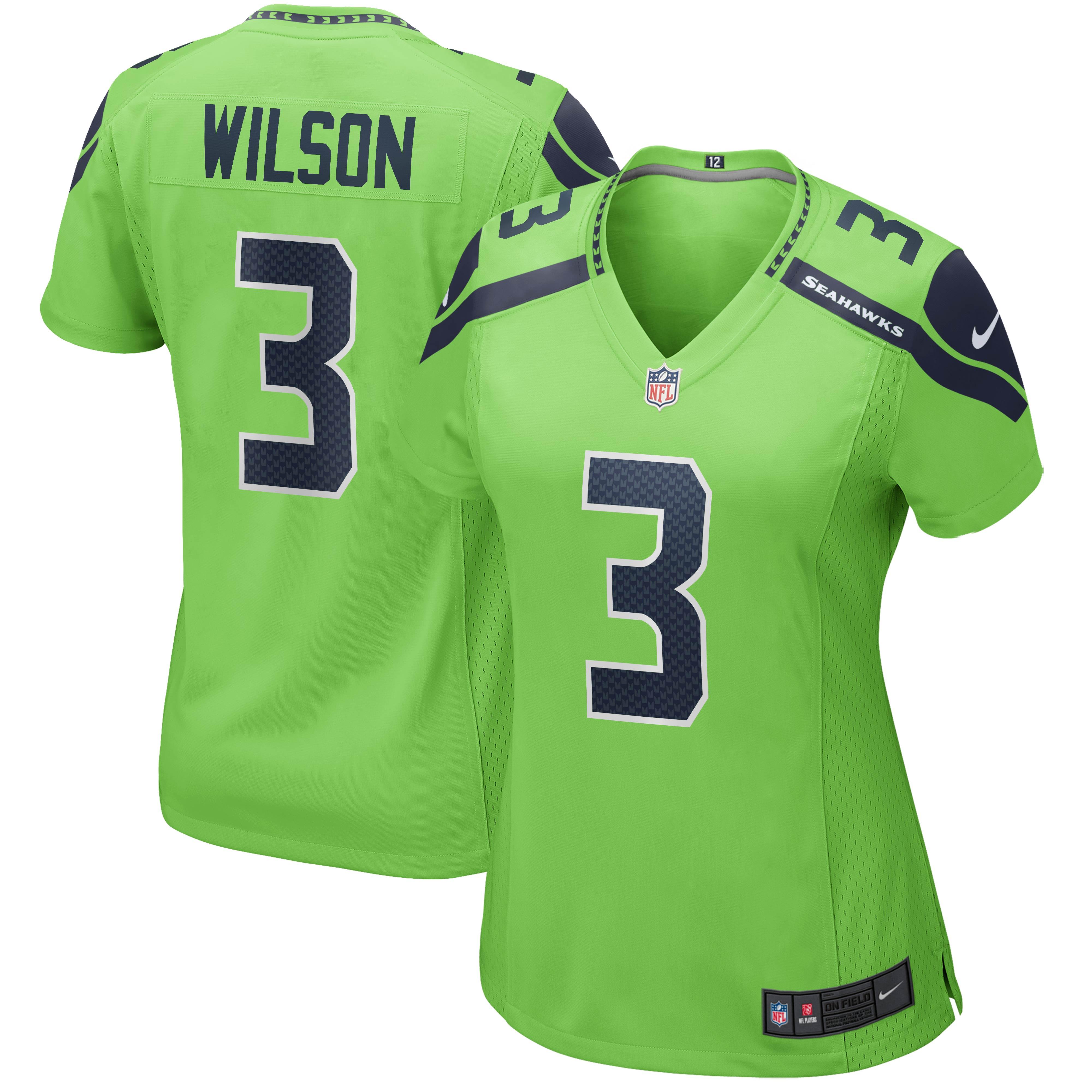 Russell Wilson Seattle Seahawks Nike Women's Alternate Game Jersey - Neon Green - Walmart.com