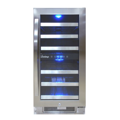 Vinotemp 28-Bottle Dual-Zone Connoisseur Series Wine Cooler