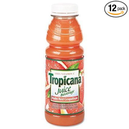 12 PACKS : Tropicana Ruby Red Grapefruit Juice, 32-Ounce by