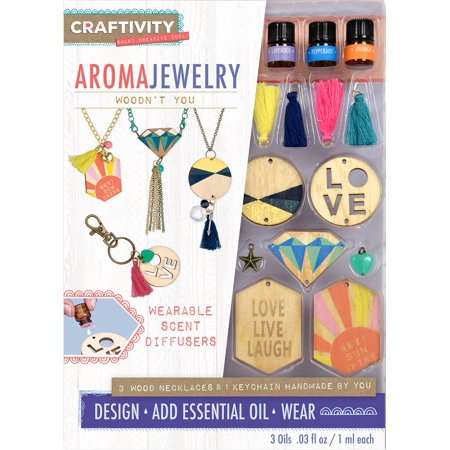 Michaels Jewelry Making (CRAFTIVITY AromaJewelry - Woodn't You - Essential Oil Jewelry Making)