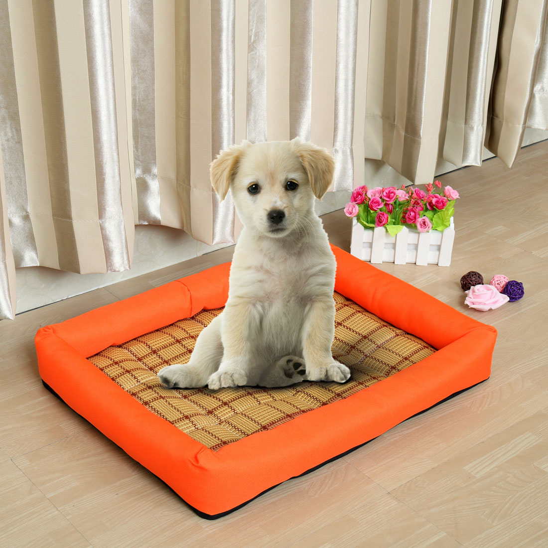 Pet Dog Cat Heat Resistant Pad Bamboo Carpet Summer Sleeping Bed