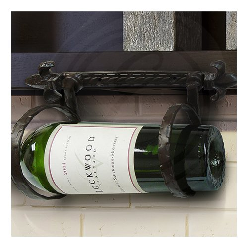 Epicureanist Fleur de Lis 1 Bottle Wall Mounted Wine Rack