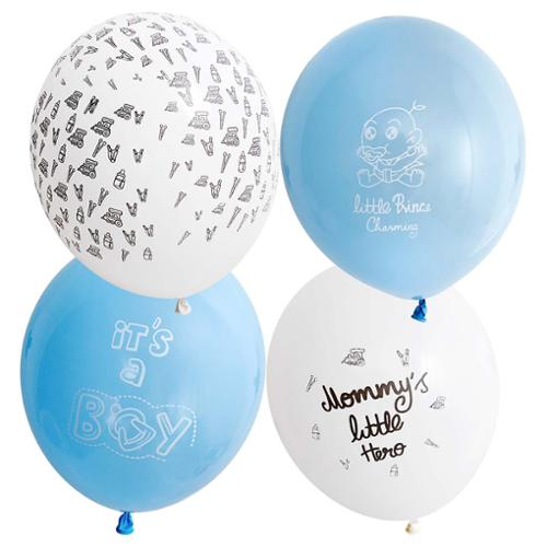 Bundle Monster Cute Blue 32pc Baby Shower Themed Party Decorations Balloons