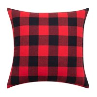 """Better Homes & Gardens Feather Filled Buffalo Plaid Decorative Throw Pillow, 18"""" x 18"""""""
