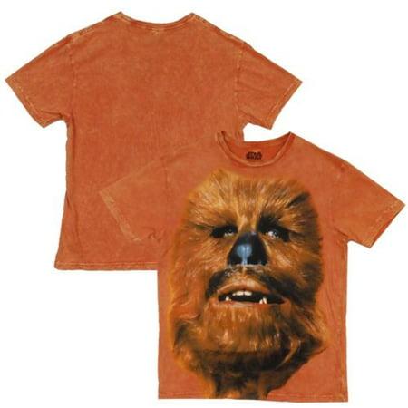 Star Wars Biggie Chewey Chewbacca Mineral Wash Adult T-Shirt - Chewbacca Jacket