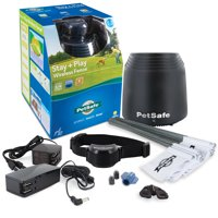 PetSafe Stay & Play Dog & Cat Wireless Fence, Secure  Acre Boundary for an Unlimited Number of Dogs