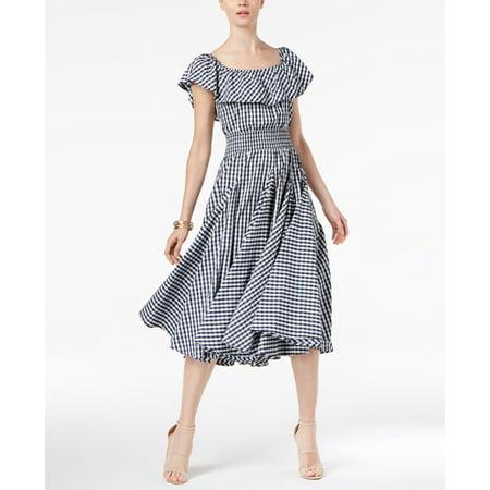 Olivia & Grace-Cotton Flounce Peasant Dress-Regular-LARGE](Medieval Peasant Dress)