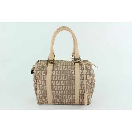 Monogram Ff Zucca Boston 21fz1016 Brown Canvas Satchel