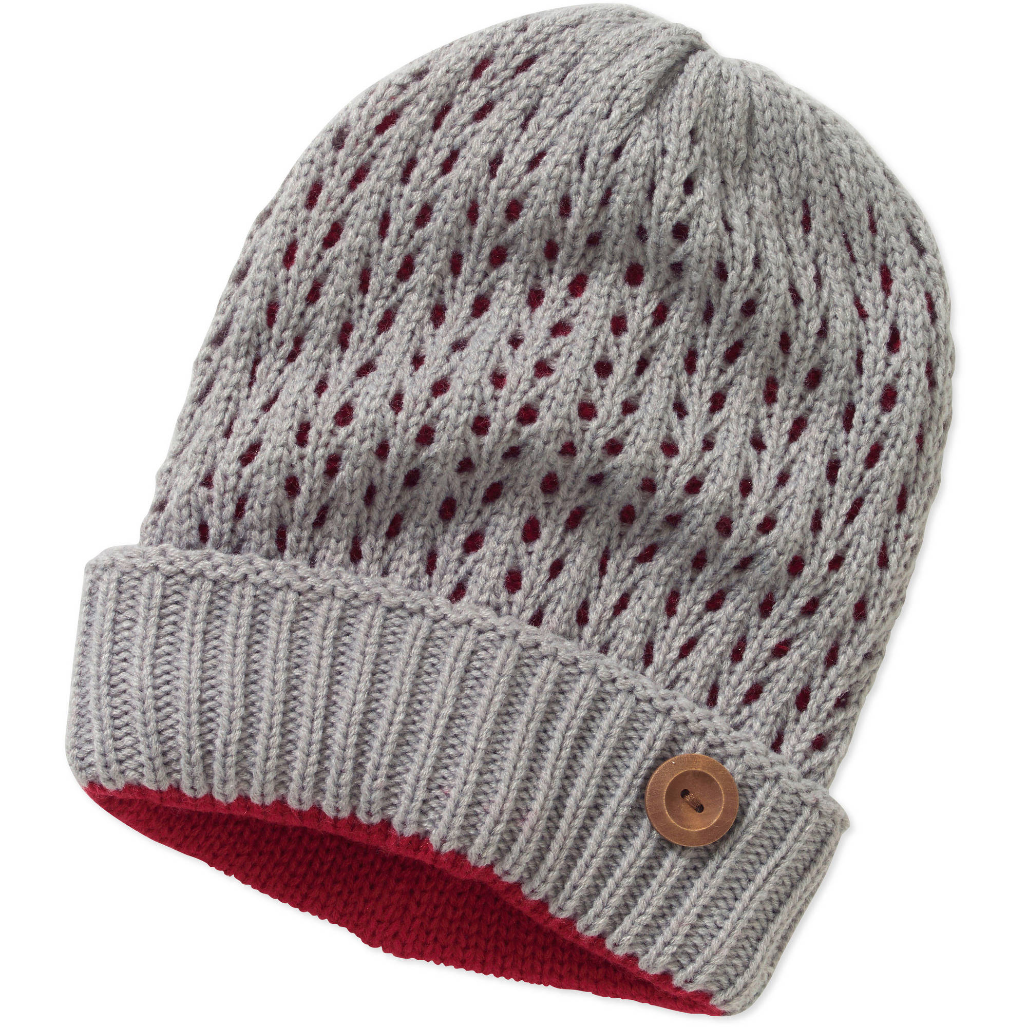 Cold Front Women's Cuff Beanie Hat with Button