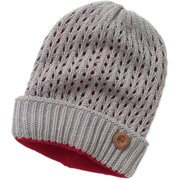 Women's Cuff Beanie Hat with Button
