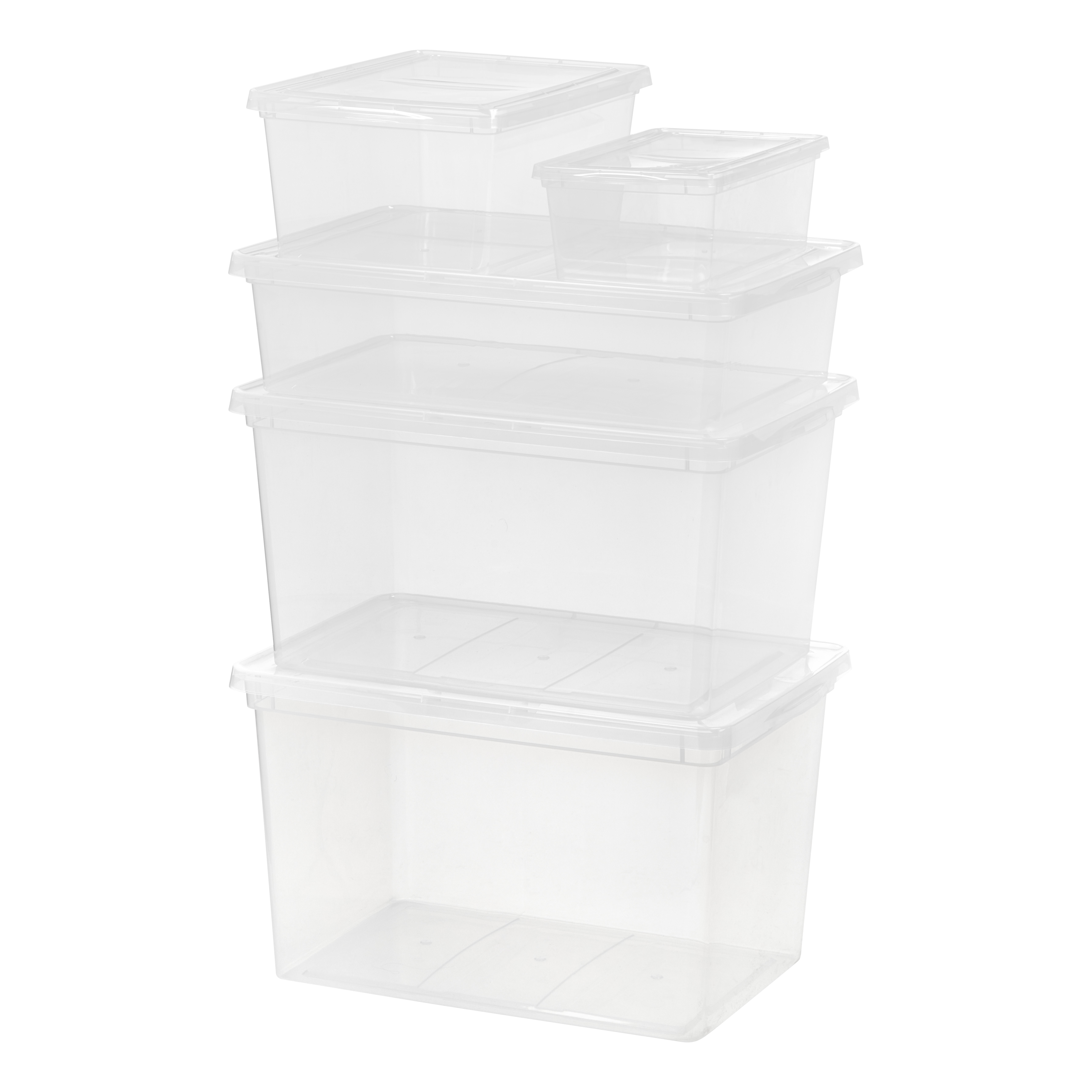 Plastic,Foldable and Stackable Set of 6 PARANTA Clear Shoe Storage Box Medium White for Storage and Display of Men and Women Shoes