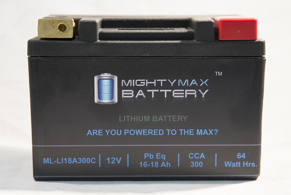 LiFePO4 12V 16-18ah Battery for Ski-Doo 600 Tundra, MX Z, GSX, 2004-12 by Mighty Max Battery