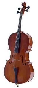 Palatino Allegro Solidwood Ebony Cello W Gigbag Bow 1 2 VC-450-1 2 by Palatino