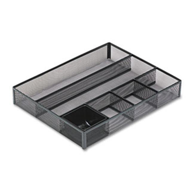Eldon Office Products 22131 Deep Desk Drawer Organizer, Metal Mesh, Black by ELDON OFFICE PRODUCTS