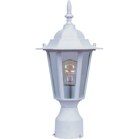 Maxim Lighting 3001CLWT Builder Cast Outdoor Post Light, White (Pout Light)