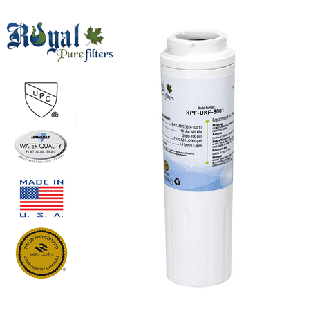 [1-Pack] Royal Pure Filters RPF-UKF8001 Replacement Water Filter Replacement for Maytag UKF8001, UKF8001AXX, UKF8001P, EDR4RXD1, Whirlpool 4396395, Puriclean II, 469006, PUR,