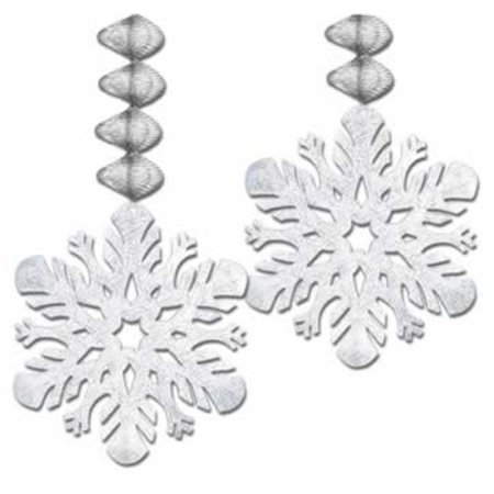 Foil Snowflake Danglers- Pack of 12