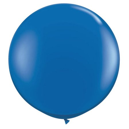 """Quasimoon 36"""" Royal Blue Round Party Latex Balloon Decorations (2 Pack) by PaperLanternStore"""